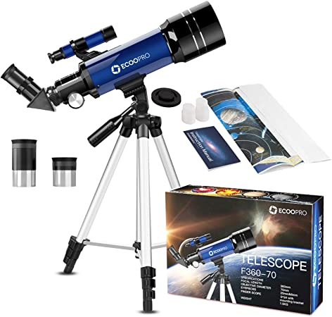 Orange Best Telescopes for Explore Stars /& Moon Adjustable Tripod /& Phone Adapter Telescopes for Astronomy Adults Beginners Professional Refracting Telescopes with 70mm Optical Aperture