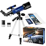 Telescope for Kids Beginners Adults, 70mm Astronomy Refractor Telescope with Adjustable Tripod - Perfect Telescope Gift for K