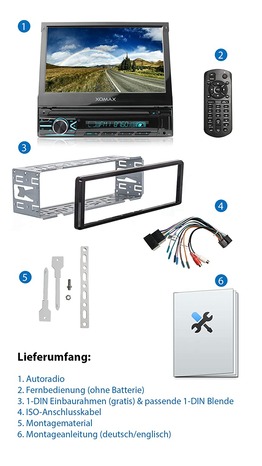 Xomax Xm V746 Autoradio Mit Mirrorlink I 7 Zoll Amazon De Elektronik