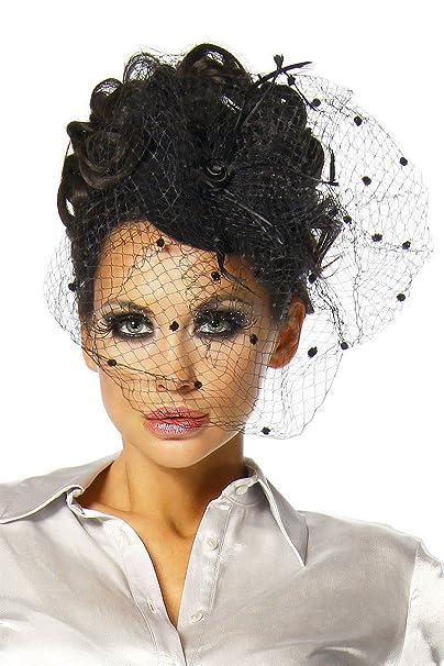 Accessori per capelli con velo per costume da carnevale o Burlesque ... 779356ddee1e
