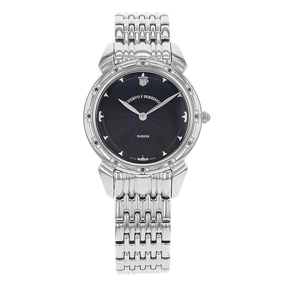 Cuervo Y acero Historiador 3112 en color blanco Y negro del diamante del reloj para mujer: Amazon.es: Relojes