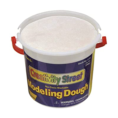 Creativity Street Modeling Dough, White, 3.3-lb. Tub (AC4069): Home & Kitchen