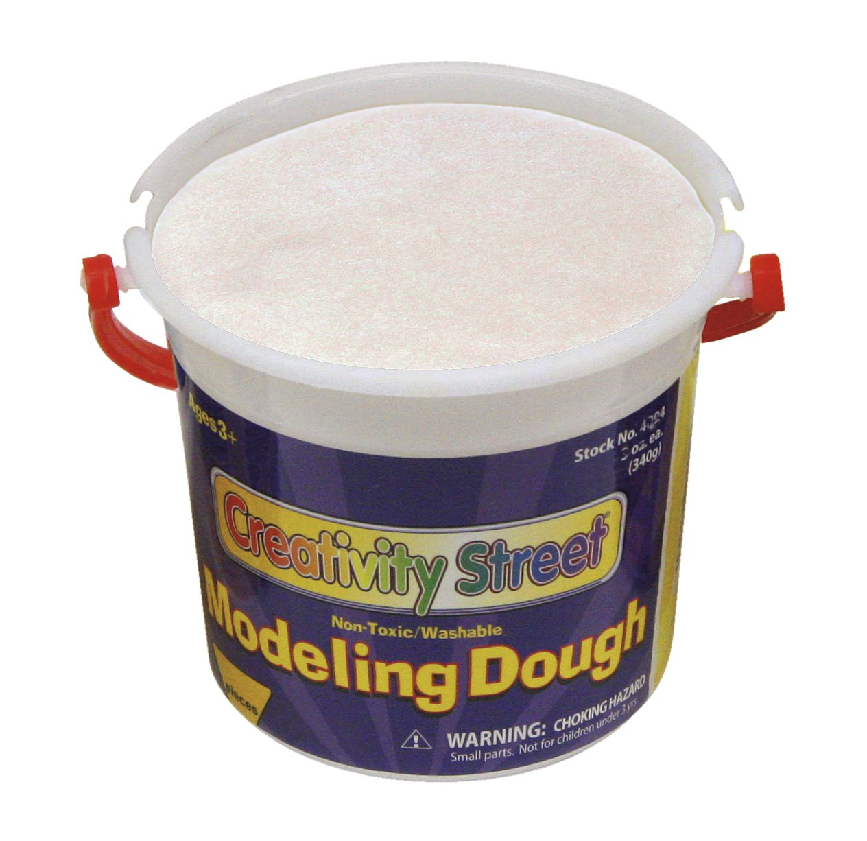Creativity Street Modeling Dough, White, 3.3-lb. Tub (AC4069)