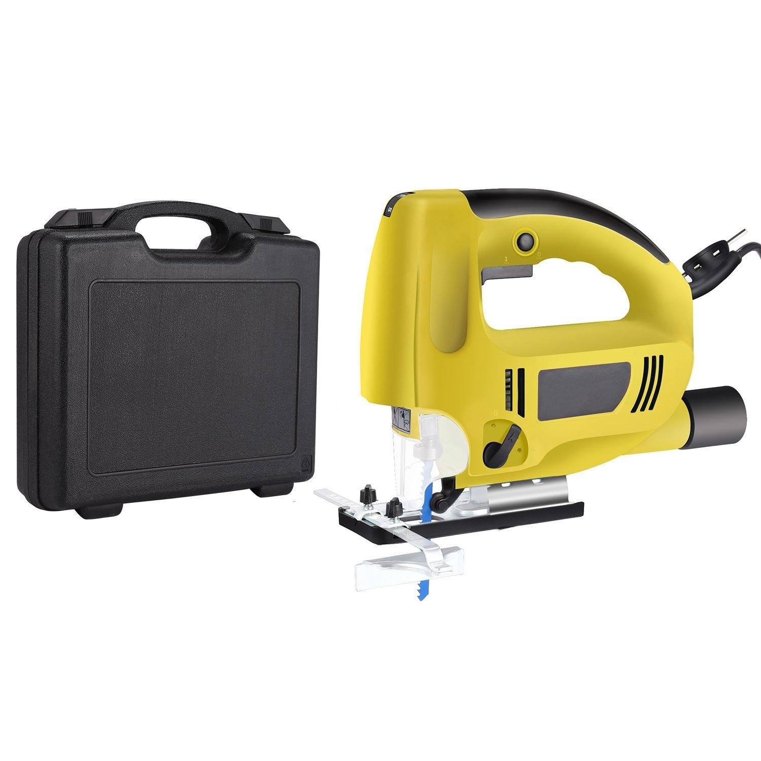 Benlet Jigsaw, 800W Electric Jig Saw w/Laser Light 5.9FT Cord with Carrying Case (Blue)
