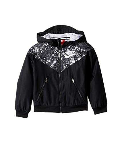 732906d2c0 Image Unavailable. Image not available for. Color: Nike Little Boys  Windrunner Jacket Black/White ...