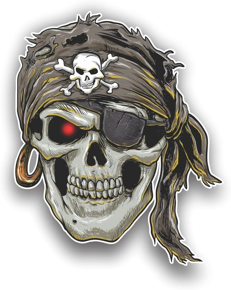 Skull Tool Rental Beer Box Chest Bumper Sticker Decal