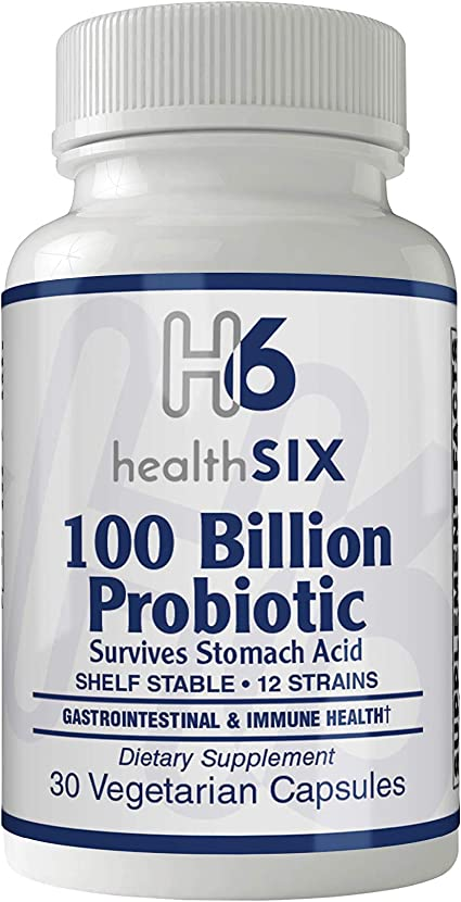 Amazon.com: Health SiX Multi Probiotic 100 Billion 30 VegCapsules (12 probiotic strains from Danisco, The World Leader in Probiotics): Health & Personal Care