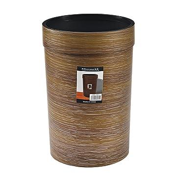 Amazon.com: Happiness Decoration Plastic Wood Grain Trash ...