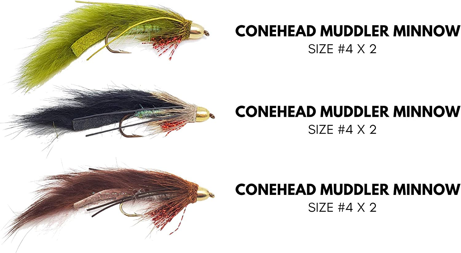 Size 10 Trout Flies For Fly Fishing Olive Dancer 6 Pack Lures