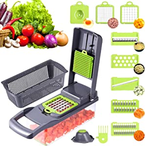 Fretouner Vegetable Chopper, Salad, Cheese & Onion Chopper Dicer ,Onion Chopper ,With Safety Hand Protection Tool And Eggseparator (1pc)