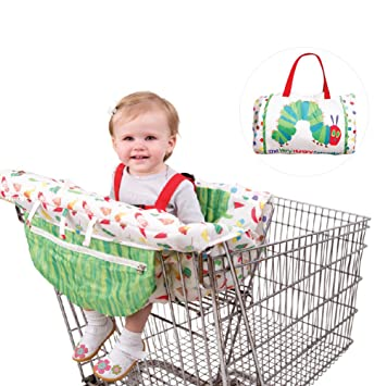 Amazon.com : PER 2in1 Shopping Cart Cover With Strap High Chair Cover Protective Cushion Full Safety Harness Universal Fit Foldable For Baby : Baby