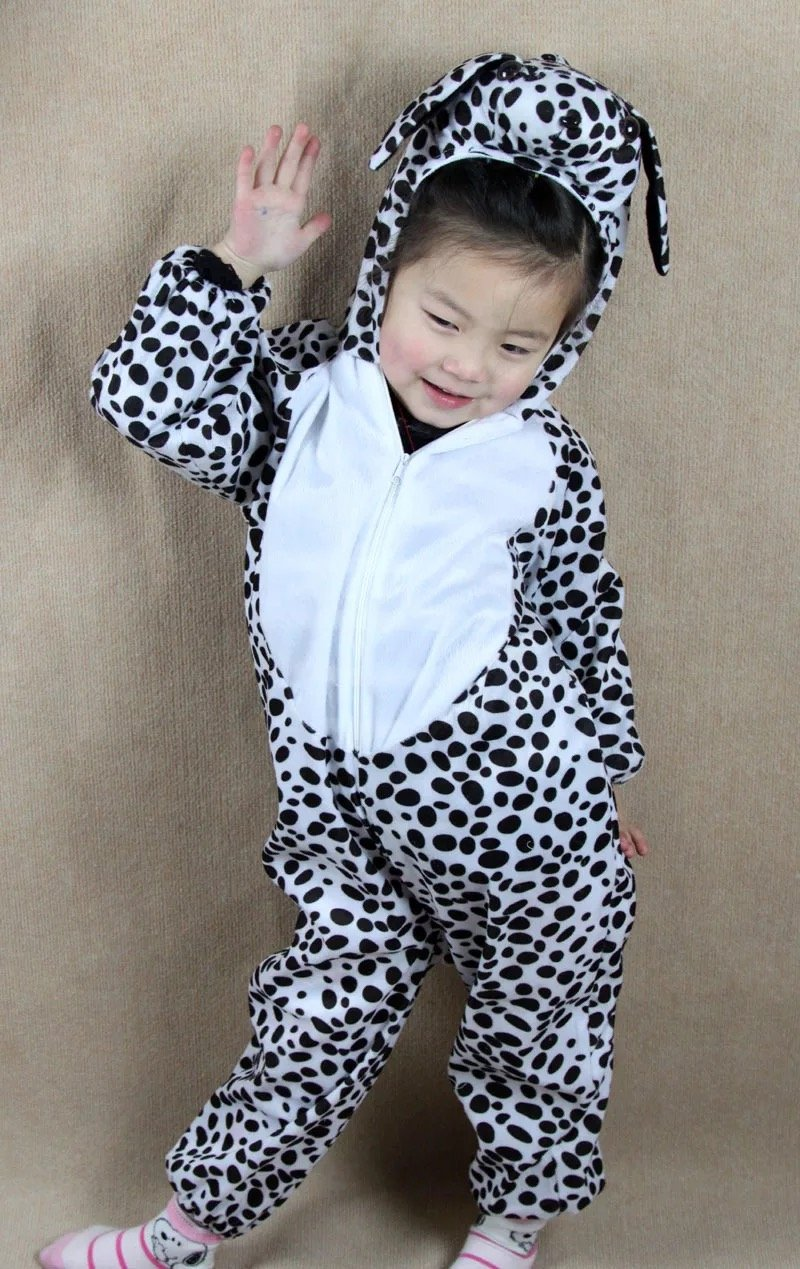 Matissa Niños Disfraces de Animales Niños Niñas Unisex Disfraces Cosplay  Niños Onesie (Perro Manchado bfa6972af3d1