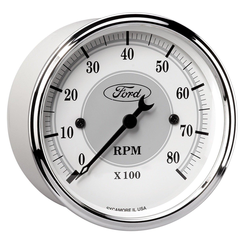 Auto Meter 880088 3-1/8' 8000 RPM Incandescent Flood Lit Tachometer Gauge for Ford