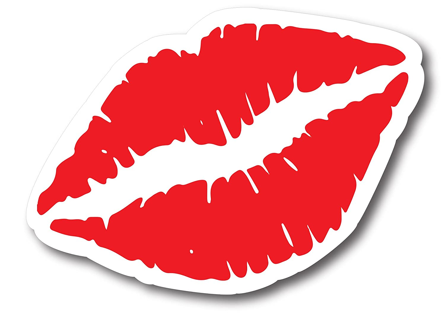 Heavy Duty for Car Truck SUV Magnet Me UP Kiss Mark Red Lips 6 Car Magnet Decal