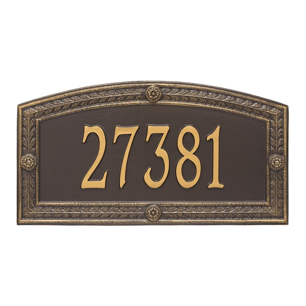 "Hamilton Estate Wall Address Plaque 26""W x 20""H (1 Line) by Whitehall"
