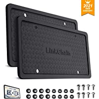 License Plate Frame,2PCS Silicone License Plate Frame with Drainage Holes ,Rust-Proof, Weather-Proof and Rattle-Proof…