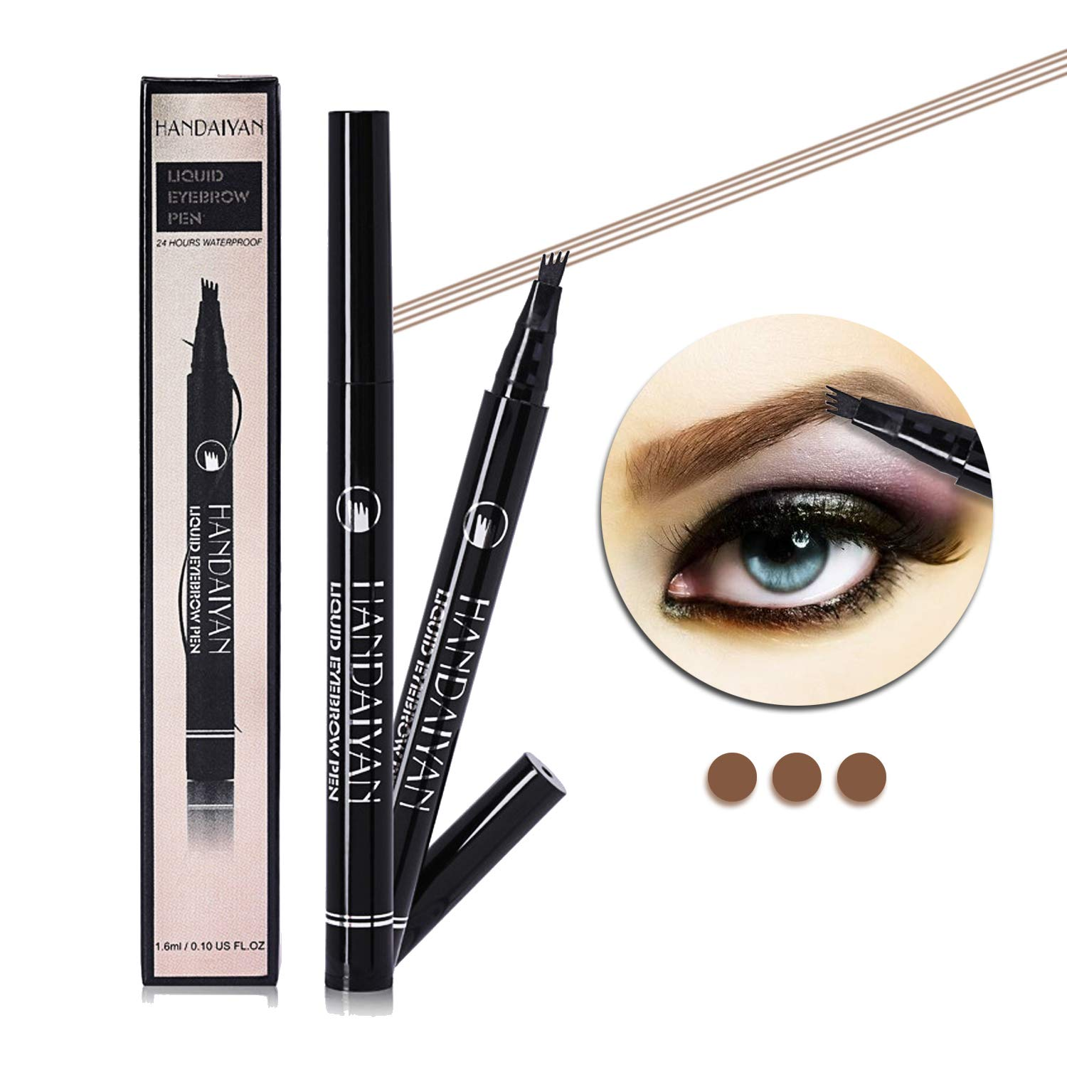 Eyebrow tattoo pen with a micro fork tips long lasting waterproof brow pencil for