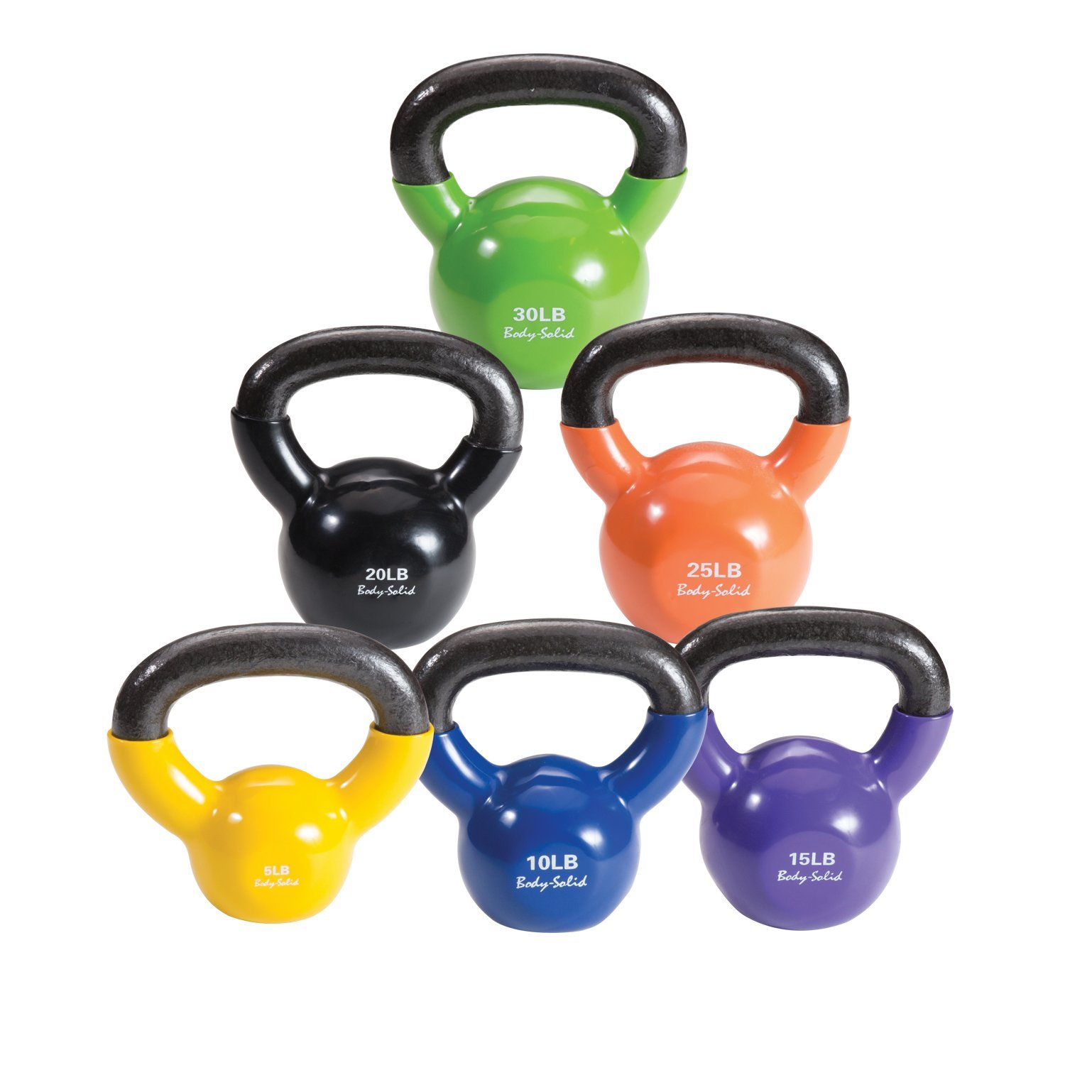 Body-Solid Vinyl Coated Kettle Bell Set