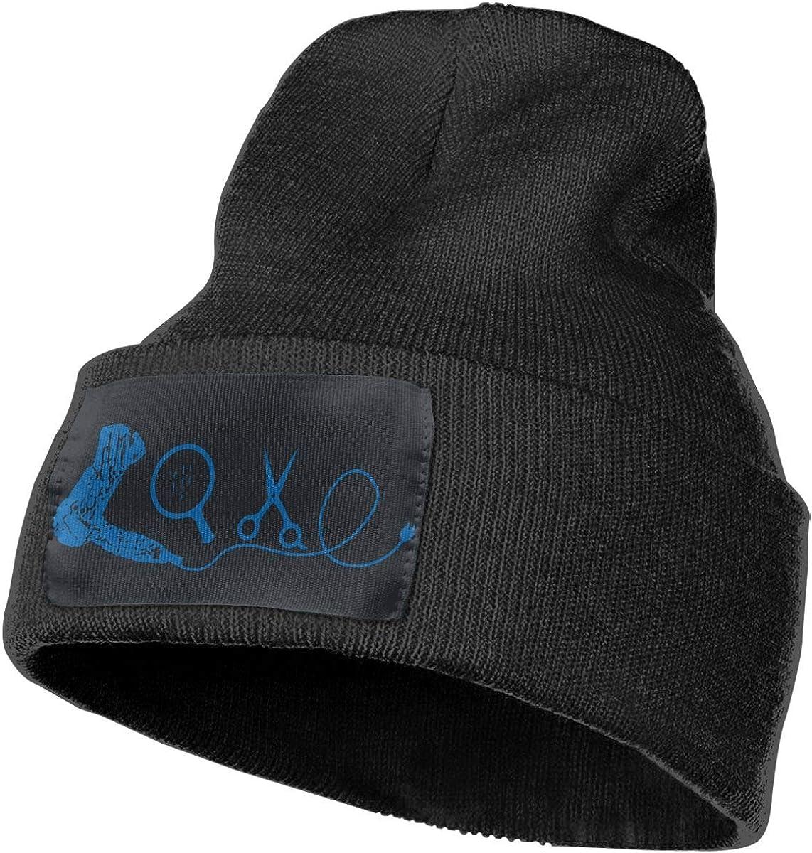 Love Hairdresser-3 Cute Skull Cap Unisex 100/% Acrylic Knit Hat Cap