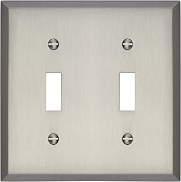 Gray Light Switch Cover Plate Gray Stripes Classy Classic Pattern Room Decor