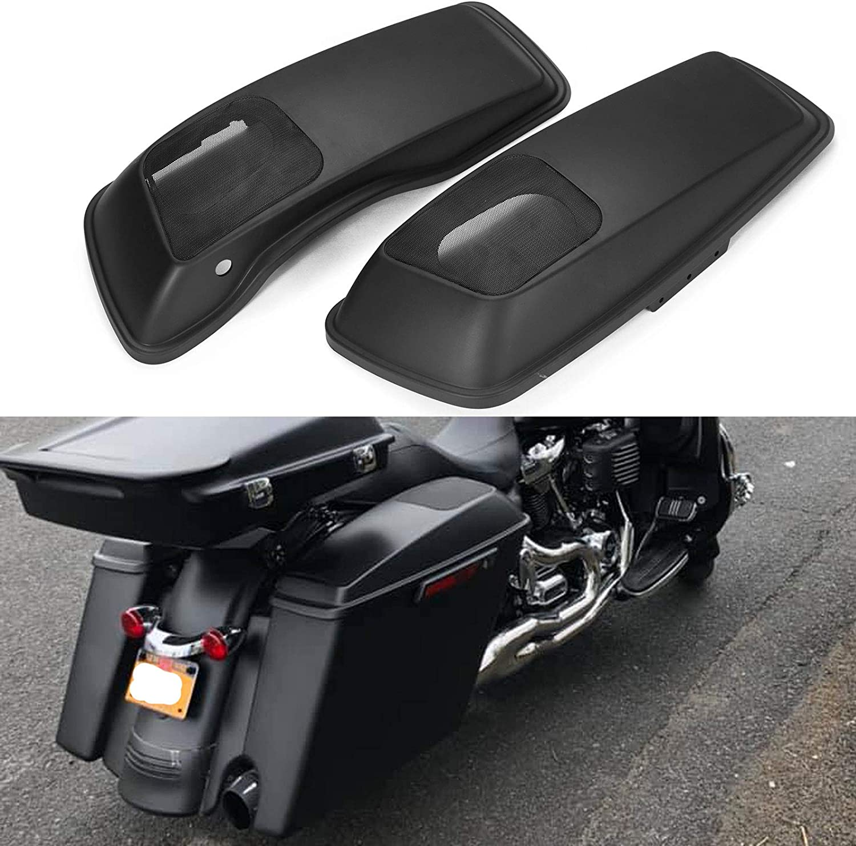 "US Black 6x9/"" Saddlebag Speaker Lids For Harley Street Glide Road King Ultra CVO"