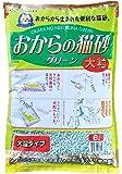 常陸化工 おからの猫砂 グリーン 大粒 6L×4個 (ケース販売)