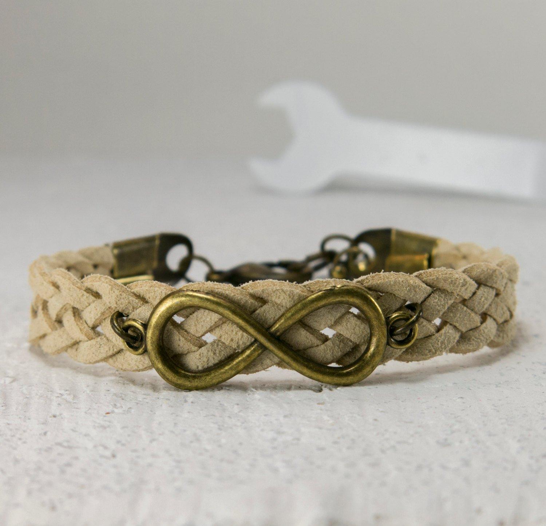 8f514e61bfc8d Men's Bracelet - Men's Leather Bracelet - Men's Infinity Bracelet ...