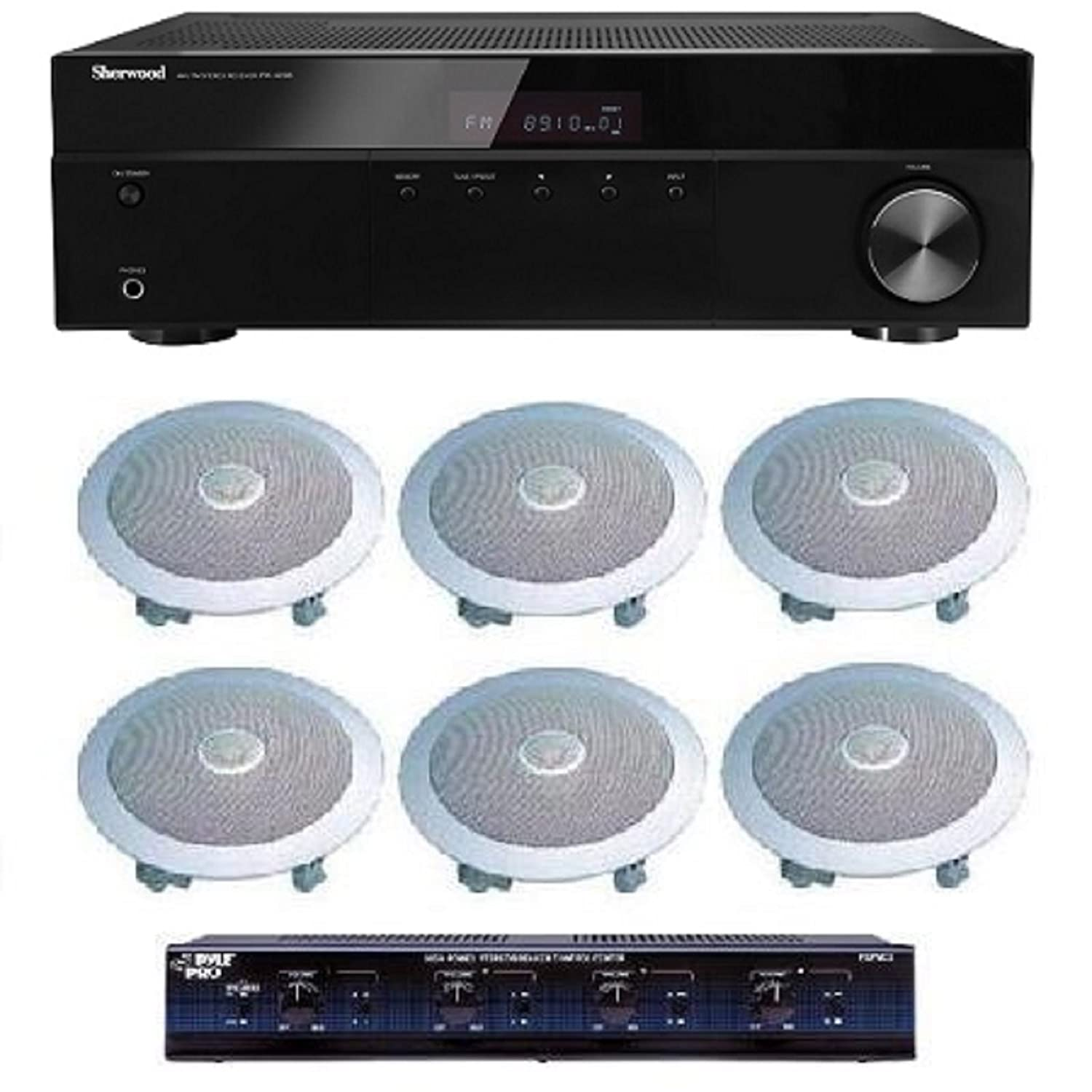 Distributed Home Audio Whole House Sound System- Ceiling Speakers for 3+ Rooms