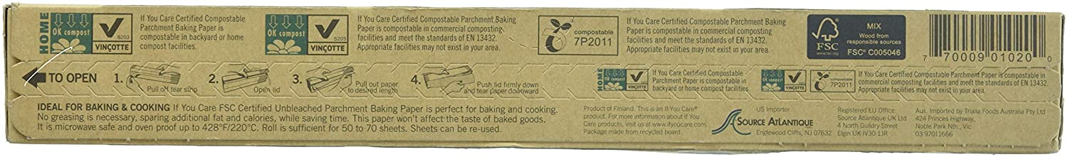 70 sq ft J25012 IF YOU CARE FSC Certified Parchment Baking Paper