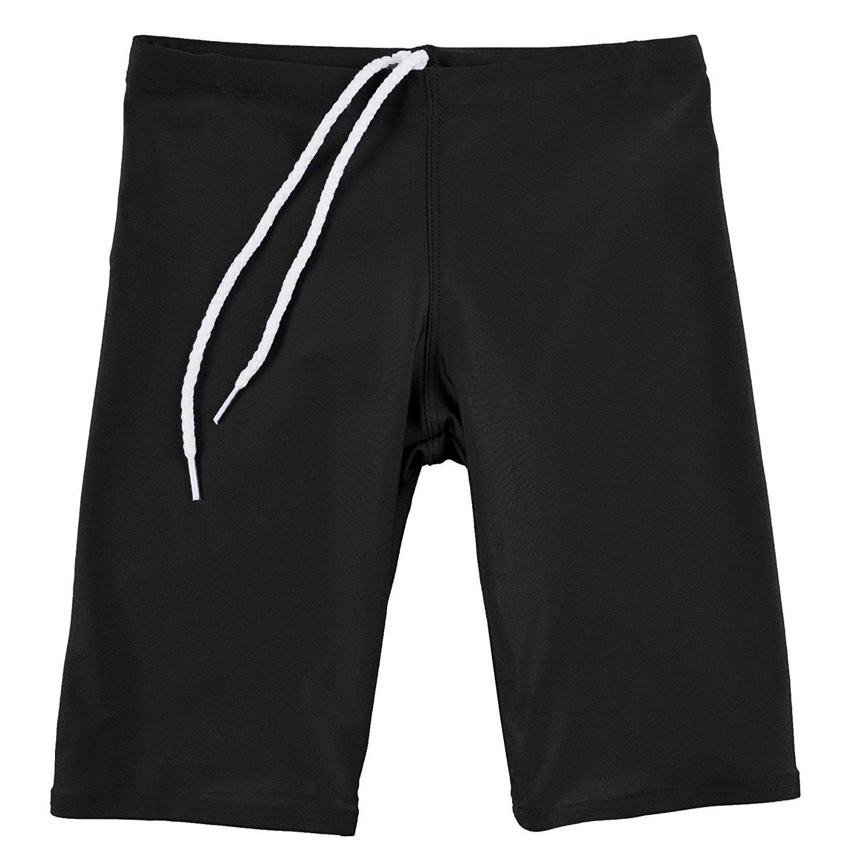 GaryM Kids Boys Solid Jammer Swim Suit by (Size 10. Black)