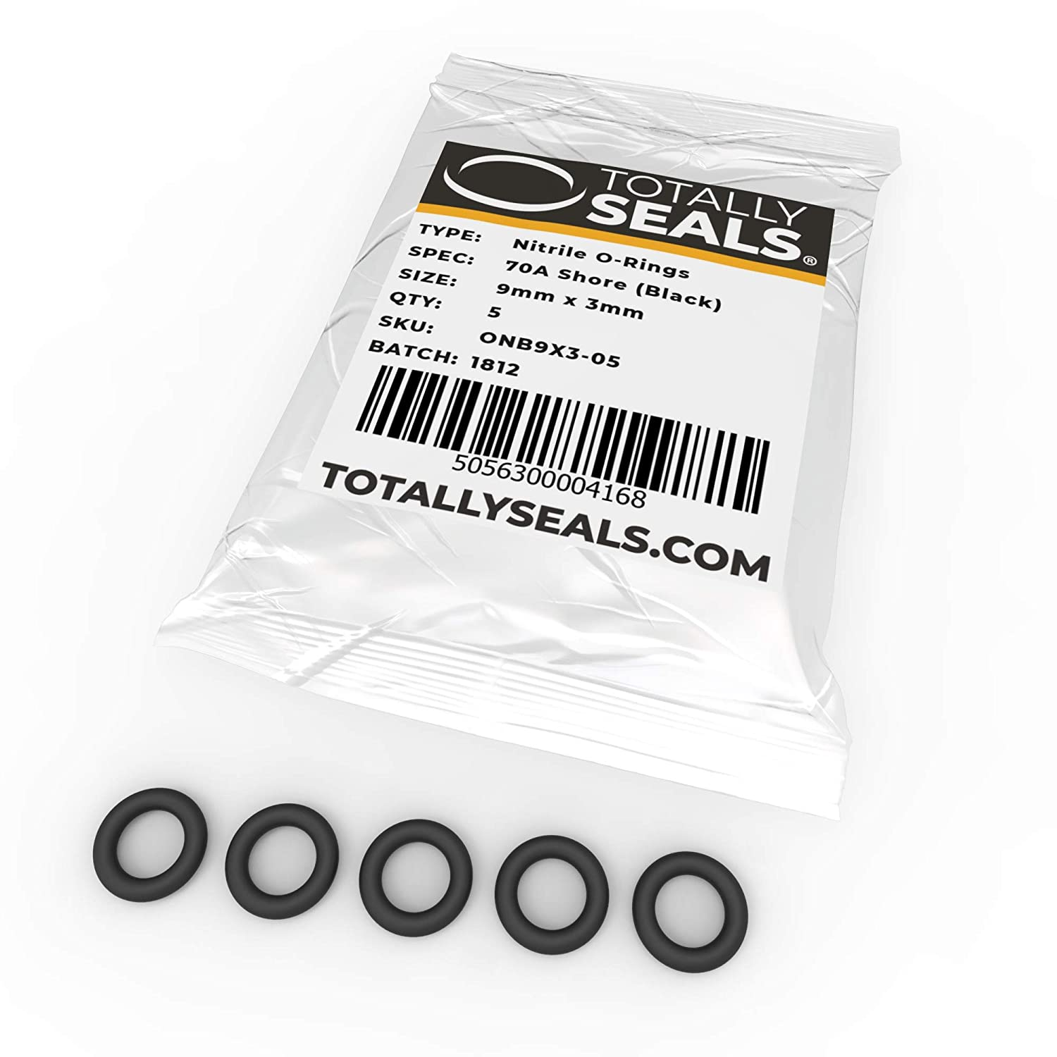 9mm x 3mm Pack of 100 Nitrile Rubber O-Rings 70A Shore Hardness 15mm OD