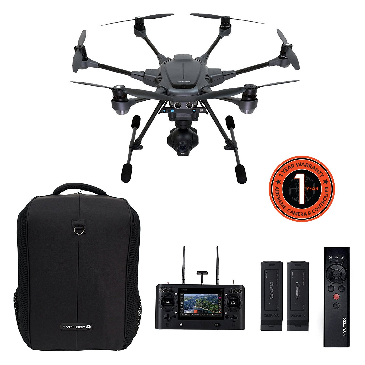 Yuneec Typhoon H Pro With Intel Realsense Technology Ultra High Ensure Your Power Wizard Fence Energizer Works To Its Fullest Capacity Definition 4k Collision Avoidance Hexacopter Drone 2 Batteries St16 Controller Soft Backpack And Camera Photo