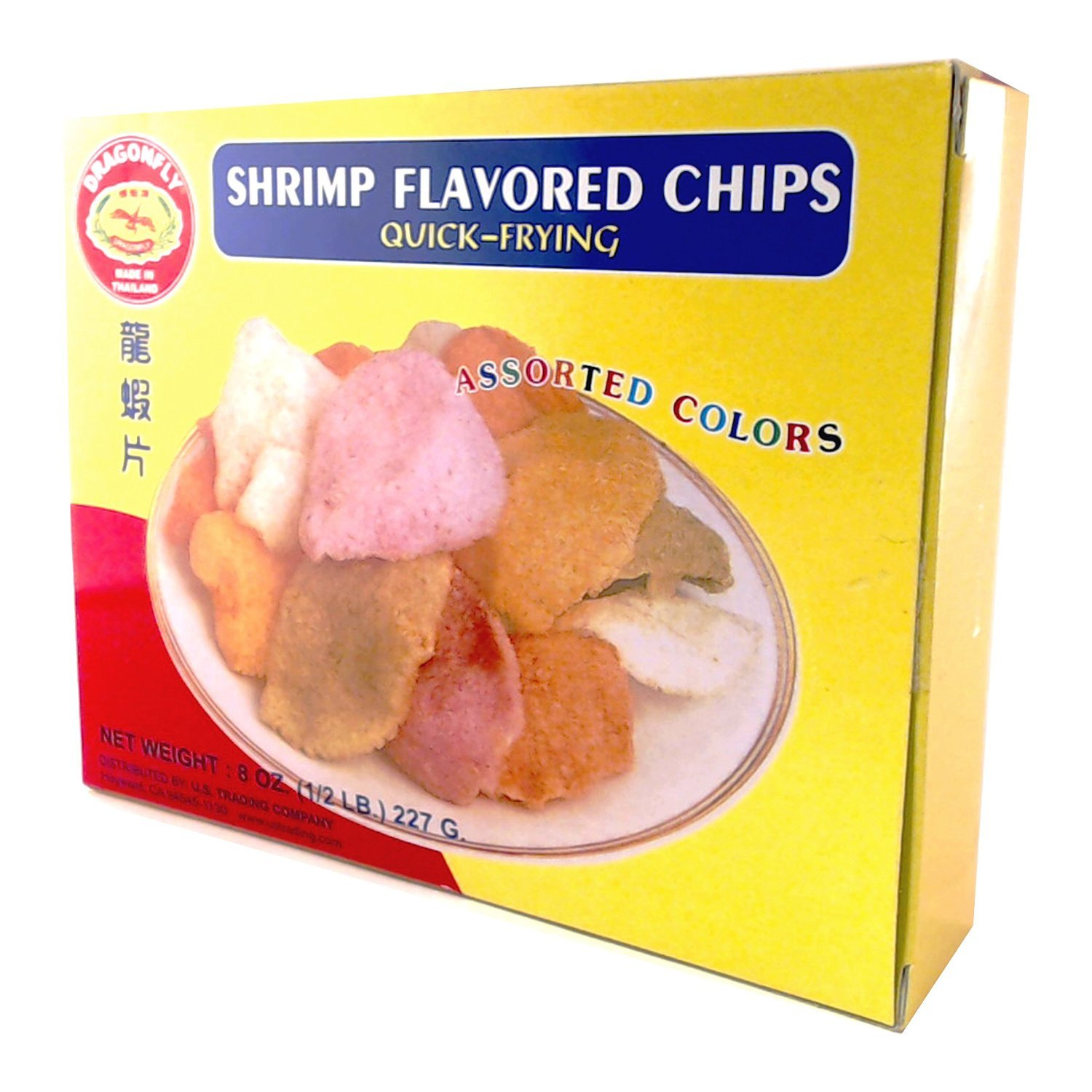 Shrimp Chips - Asian Colored Shrimp Snacks (to cook) - Uncooked Quick Frying - Thailand
