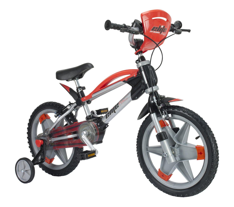 INJUSA - Bicicleta Eilte MAX de 16 Pulgadas para niños a Partir de 6 años, Rojo (1600)