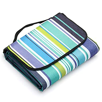 43ddcd2240e5 LIVEHITOP Picnic Blanket 200 x 200 cm Extra Large Waterproof, Portable  Folding Sandproof Beach Mat for Family Travel BBQ Camping Outdoor,  79''x79'' ...