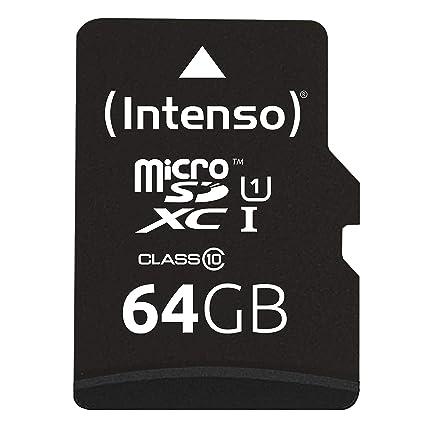 Intenso 3423490 - Tarjeta Memoria Micro SD de 64 GB, Color ...