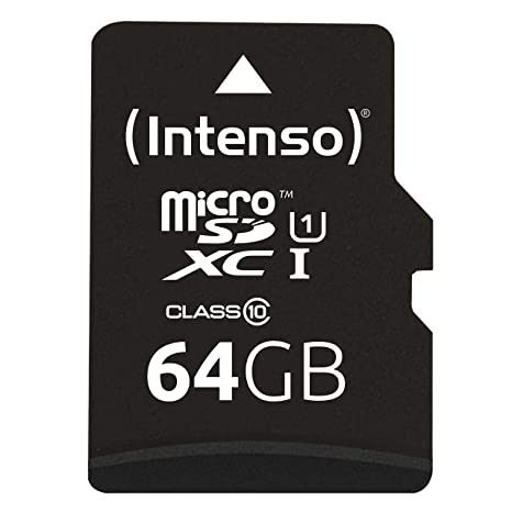 Intenso 3423490 - Tarjeta Memoria Micro SD de 64 GB, Color Negro ...