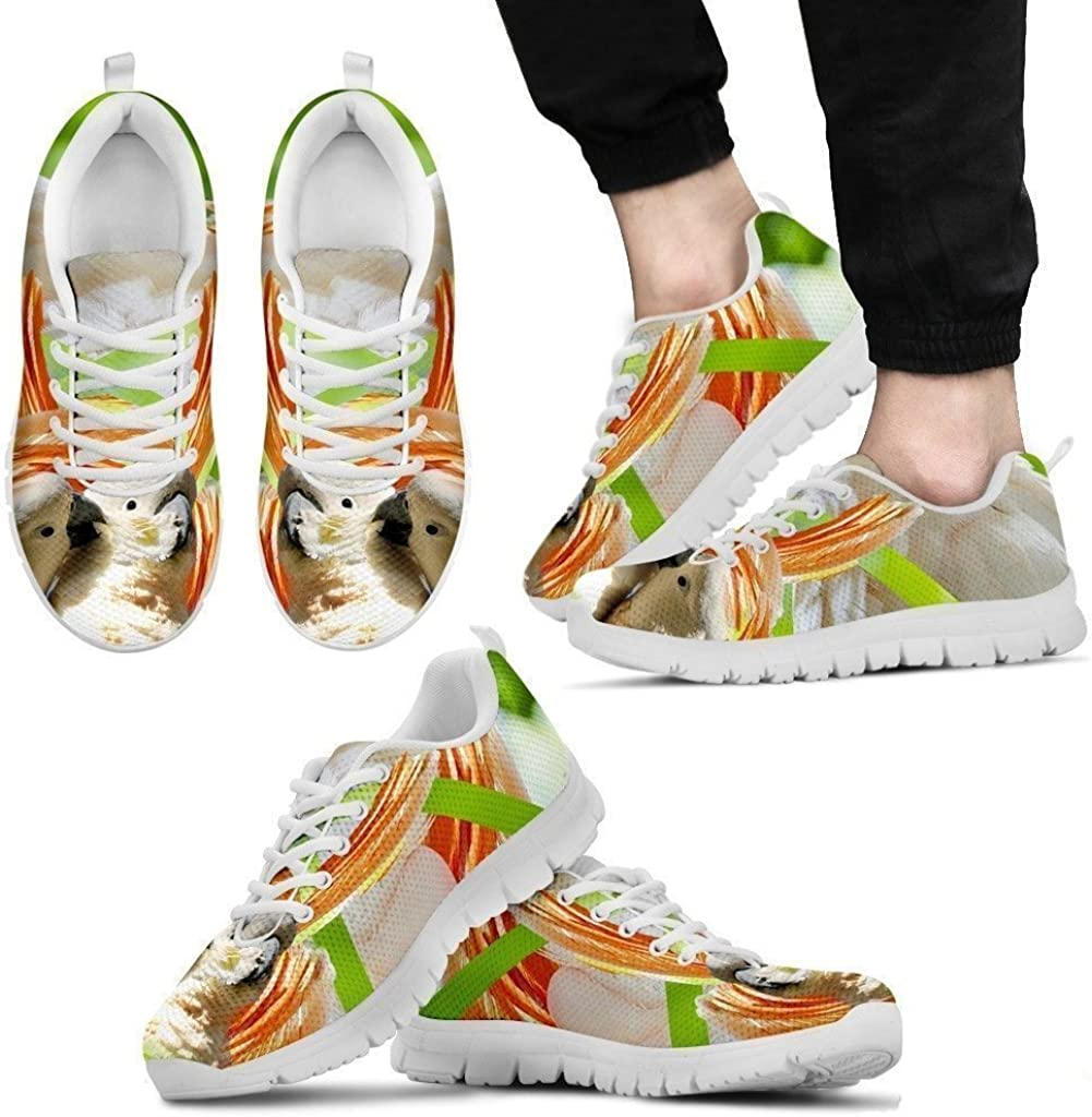 Cute Cockatoos Parrot Running Shoe for Men Casual Comfortable Sneakers Running Shoes