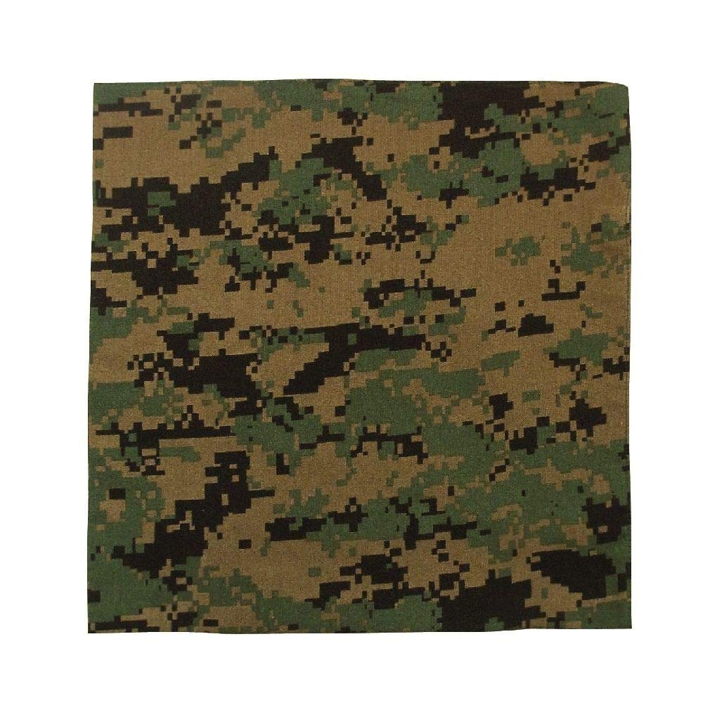BlackC Sport Bandana 22 X 22 Camouflage Military Cotton Biker Camo Army Bandanas
