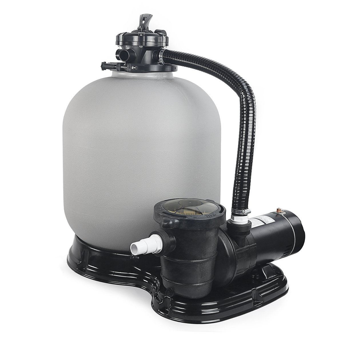 "Amazon.com : 4500GPH 19"" Sand Filter w/ 1HP Above Ground Swimming Pool Pump  : Garden & Outdoor"