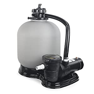 """4500GPH 19"""" Sand Filter w/ 1HP Above Ground Swimming Pool Pump"""