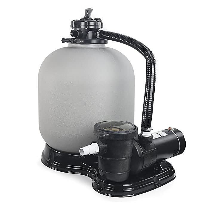 "4500GPH 19"" Sand Filter w/ 1HP Above Ground Swimming Pool Pump"