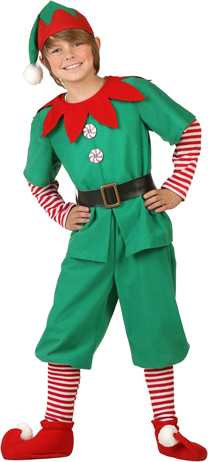Boys Girls Childrens Kids Elf Pixie Christmas Fancy Dress Costume Outfit 4-12