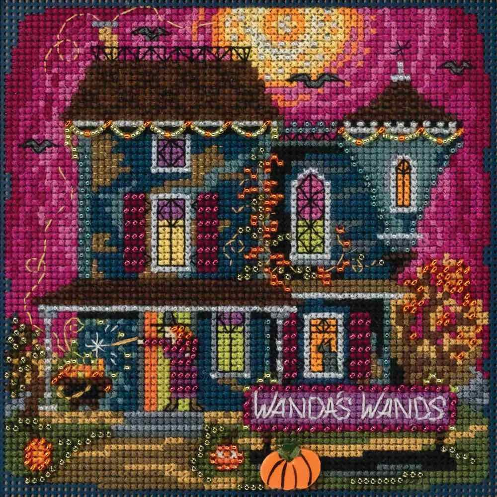 Mill Hill Wanda's Wands Beaded Counted Cross Stitch Halloween Kit 2018 Buttons & Beads Autumn MH141822 Wichelt Imports