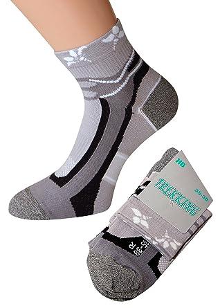 Damen Trekking Socken Sneaker Socken Trekkingsocken Damen Mädchen Sportsocken Joggingsocken, 1 oder 6 Paar