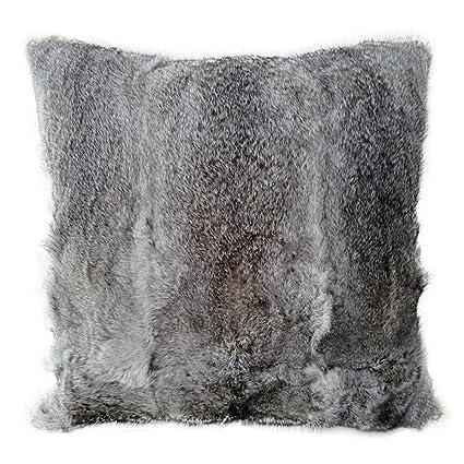 Amazon PATTONJIOE Real Rabbit Fur Pillow Cover Throw Pillow Beauteous Rabbit Fur Pillow Cover