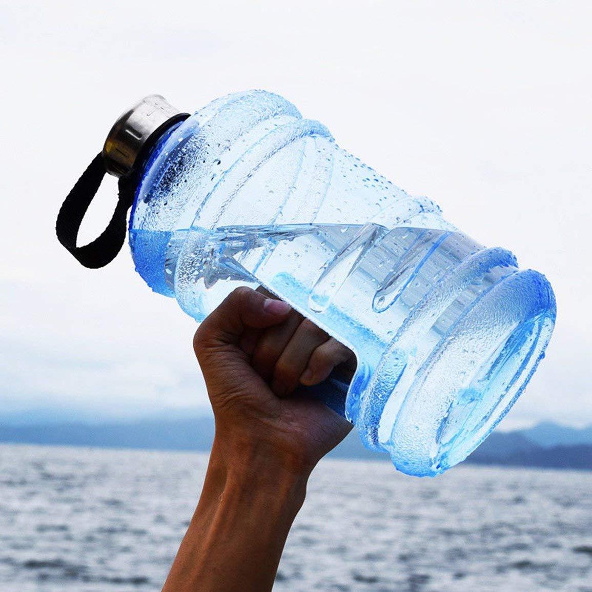 Color: Azul Garciasia 2.2L Tama/ño port/átil PETG Botella de Agua de Gran Capacidad Entrenamiento Deportivo Botella de Bebida para Beber 2.2LPETG