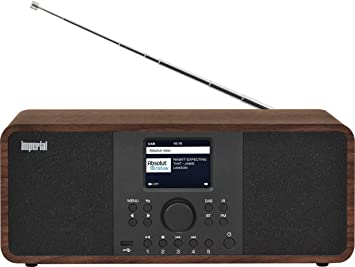 Imperial Dabman I205 Internet Radio Dab Stereo Sound Fm Wlan Lan Bluetooth Streaming Services Spotify Napster Etc Including Power Supply Brown Home Cinema Tv Video