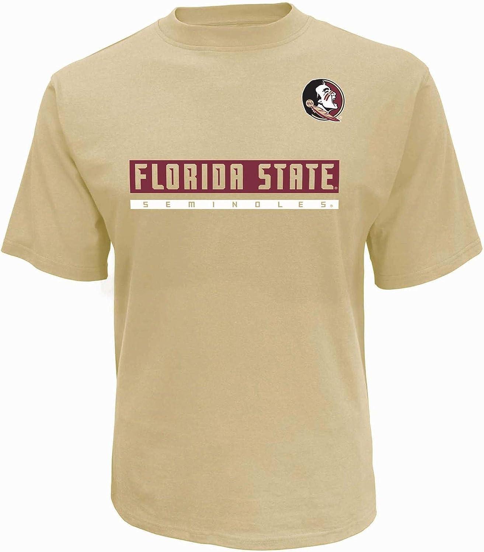 Pro Edge Mens Big and Tall Florida State Seminoles Cotton T-Shirt
