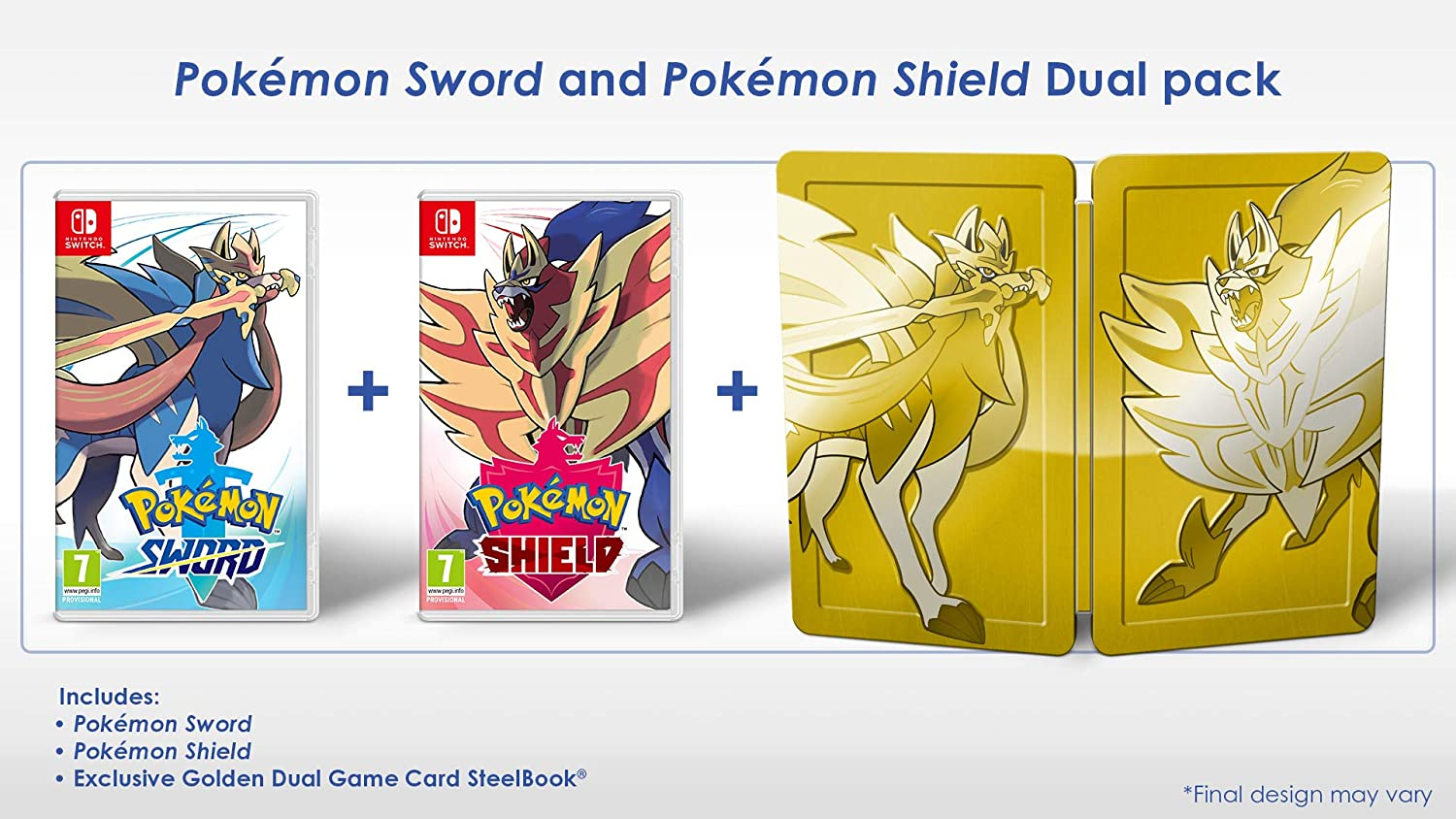 Pokemon Sword and Shield Dual Edition - Nintendo Switch [Importación inglesa]: Amazon.es: Videojuegos